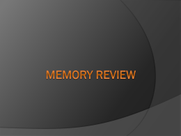 Memory PPT practice test copy