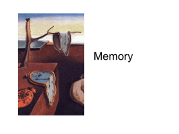 Memory - Stanford Psychology Department