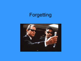Forgetting - AP Psychology