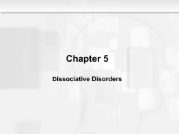 Dissociative Disorders - People Server at UNCW