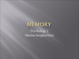 Lecture 6 Memory