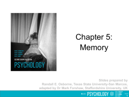Chapter 05: Memory PowerPoint