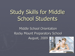 Study Skills for Middle School