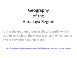 Geography - College of the Holy Cross