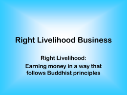 Right Livelihood Business