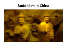 Buddhism in China - University of Pittsburgh