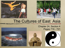 The Cultures of East Asia