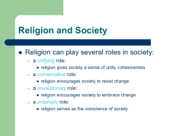 Religion and Society - University of Mount Union