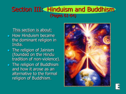(Section III): Hinduism and Buddhism