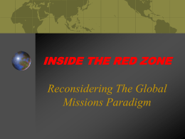 Reconsidering The Global Missions Paradigm