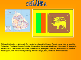 Cities of Srilanka :- Although Sri Lanka is a beautiful