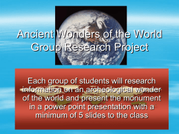 Wonders of the World Group Research Project