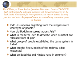 World History A Exam Review Questions Directions