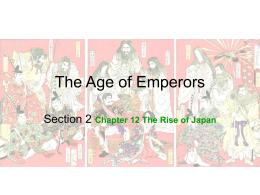 Section 2, The Age of Emperors