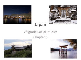 Japan - the website of Mrs. Baptista and Ms. Bacchetti!