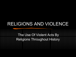 RELIGIONS AND VIOLENCE