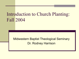 Intro to Church Planting 1