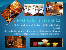 Festivals in Sri Lanka - British Council Schools Online