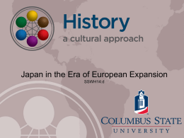 Japan in the Era of European Expansion
