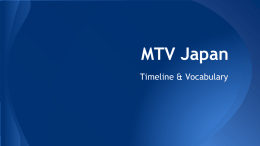 MTV Japan - World History @ OMS