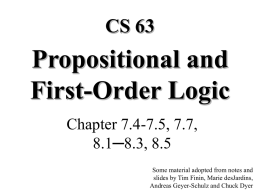 First-order logic - swarthmore cs home page