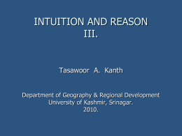 INSTITUTION AND REASON ARE THE TWO FACULTIES