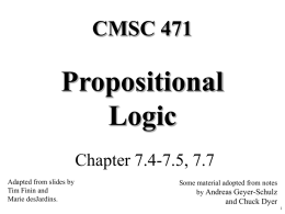 Propositional Logic