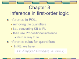 Chapter 9 Inference in first