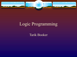 Logic Programming Languages