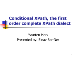 Conditional XPath
