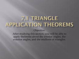 7.1 Triangle application theorems