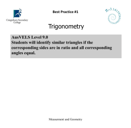 Trigonometry - BP#1-6 Procedure