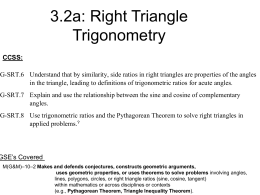 8.3: Right Triangle Trigonometry