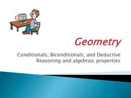 cond, bicond, ded and algebra