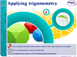 Applying trigonometry