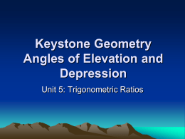 Angle of Depression and Elevation
