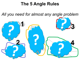 3 equal angles (all 60 o )
