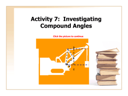 Activity 7: Investigating Compound Angles
