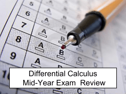 Midyear exam practice questions
