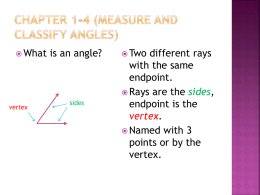 Chapter 1-4 (Measure and Classify Angles)