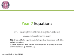 Yr7-Equationsx (Slides)