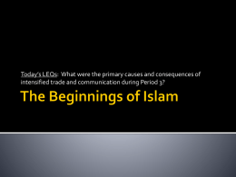 The Beginnings of Islam - Appoquinimink High School