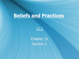 Beliefs and Practices