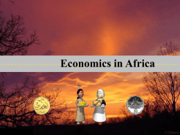 Economics in Africa PowerPoint Notes