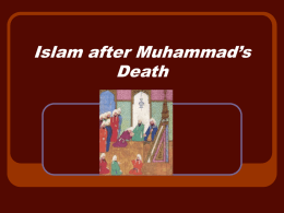 Islam after Muhammad`s Death