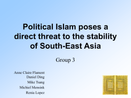 Islam and instability in South East Asia