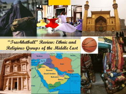 *Trashketball* Review: Ethnic and Religious Groups of the Middle East