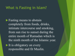 What is Fasting in Islam?