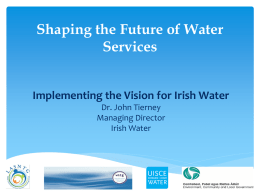 John_Tierney_Implementing_the_Vision_for_Irish_Water