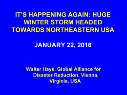 IT`S HAPPENING AGAIN: HUGE WINTER STORM HEADED